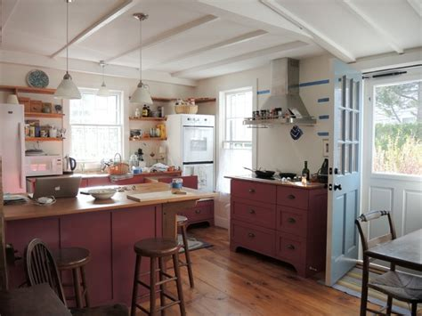 nantucket kitchen  reclaimed countertops traditional