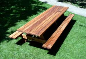 Round Picnic Table With Attached Benches by Forever Wood Picnic Tables Built To Last Decades