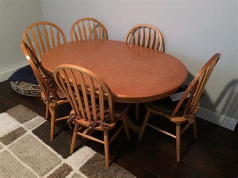 oak kitchen table and 6 chairs surrey incl white rock