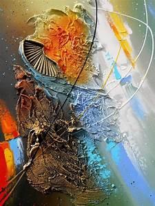 Tableau En Relief : aldhafara tableau abstrait moderne contemporain peinture ~ Melissatoandfro.com Idées de Décoration
