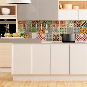 Stickers Carreaux De Ciment Cuisine : 9 stickers carreaux de ciment azulejos violetta cuisine ~ Melissatoandfro.com Idées de Décoration