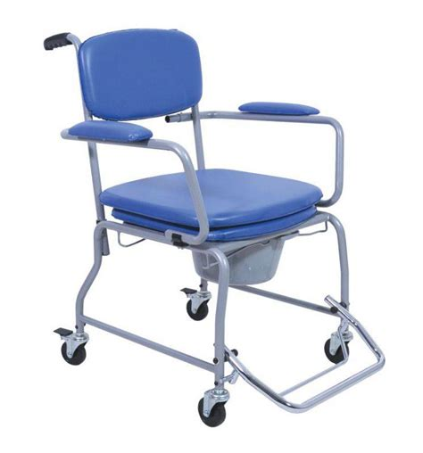 chaise percée à roulettes chaise percée réglable en hauteur à roulettes espace