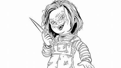 Scary Doll Coloring Pages Chucky Tiffany Bride