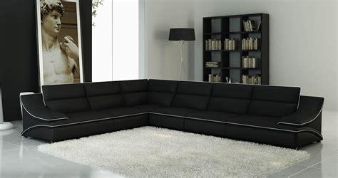 canapé d angle cuir noir et blanc deco in canape d angle cuir design noir et blanc