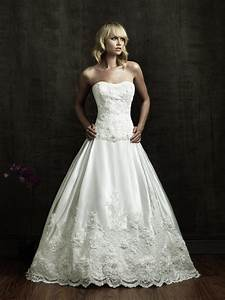 beautiful strapless wedding dress with a line ipunya With pretty wedding dresses