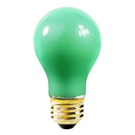 satco s4982 40 watt green light bulb