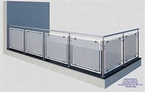gelander md 06a lochblechgelander weiss deutschland With französischer balkon mit sonnenschirm 3m günstig