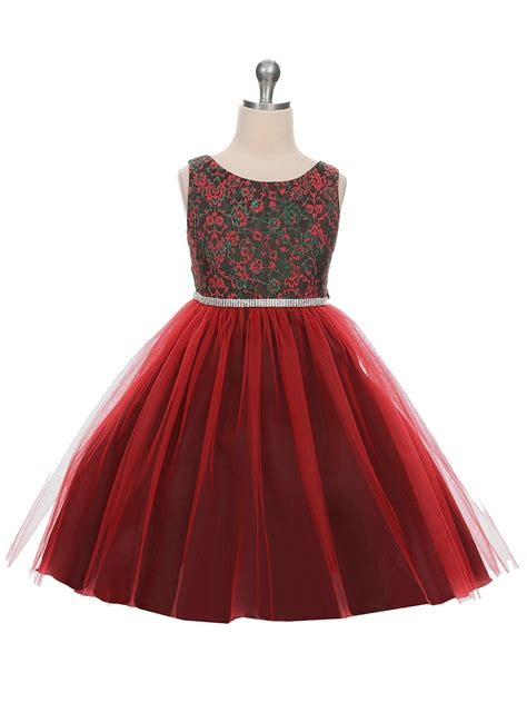 red green jacquard holiday dress