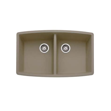 kitchen sinks undermount granite composite blanco performa undermount granite composite 33 in equal