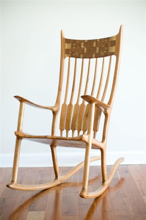 hand made sam maloof inspired rocking chair by virginia