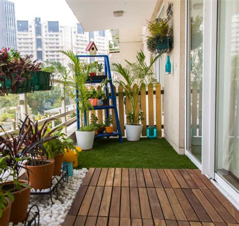 Simple balcony garden design ideas for Indian homes homify