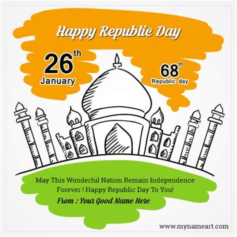 happy republic day picture maker