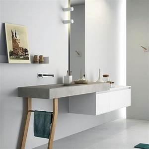 Meuble Salle De Bain Moderne : salle de bains design moderne adoptez le blanc ~ Nature-et-papiers.com Idées de Décoration