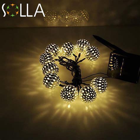 warm white 10 balls set wholesale moroccan string led lights decoration led l