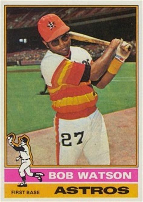 topps bob watson  baseball card  price guide