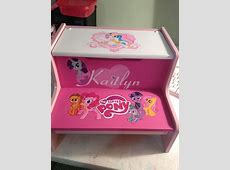 Personalized baby gifts amazon kalentri 2018 personalized my little pony childs step stool 6500 via etsy little miraclesbig steps negle