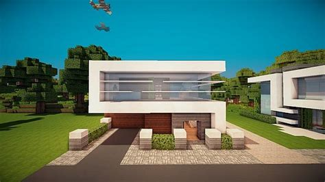 lot modern house minecraft project