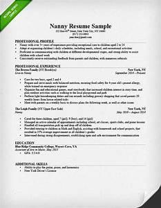 body man resume sample With nanny resume builder