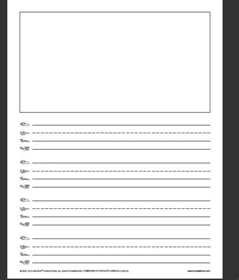 fundations writing paper school