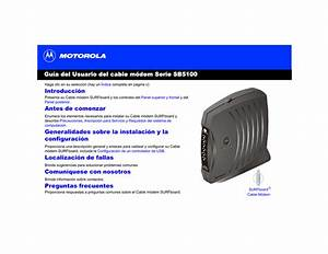 Manual Motorola Surfboard Sb5101 Usuario Espa U00f1ol