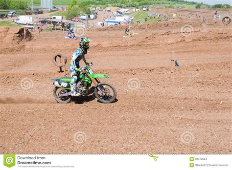 motocross races uk motocross rider editorial stock image image 33472634