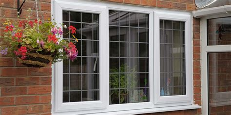 diamond leaded white upvc windows white composite door  pennine