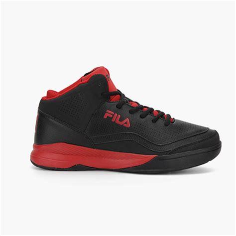 fila gunner black  red basketball shoes buy fila