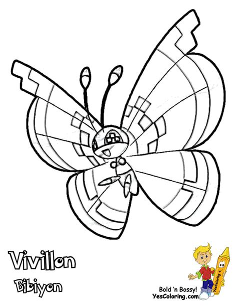 X And Y Pokemon Coloring Pages