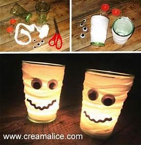 Deco Halloween A Fabriquer : diy photophore fant me pour la d co d 39 halloween ~ Melissatoandfro.com Idées de Décoration