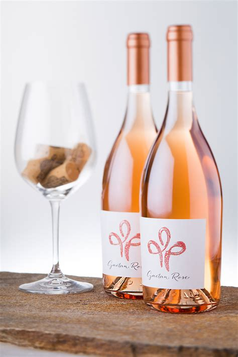 is chagne wine gaetan rose wine label an elegant change