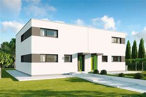 Mehrfamilienhaus Grundriss Modern : fertighaus doppelhaus mit zwei wohnungen gussek haus ~ Eleganceandgraceweddings.com Haus und Dekorationen