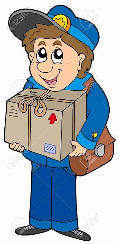 Mailman Clipart Delivering Box Postman Mail Clip