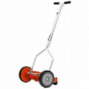 Walk Behind Lawn Mower Manual Push Reel Steel Blade