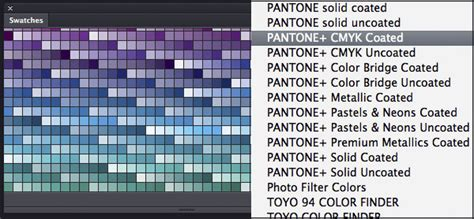 working  pantone color libraries  photoshop cs