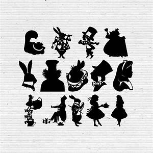 Alice in Wonderland Disney Silhouette SVG Cut File ...