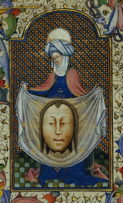 saint veronica displaying  sudarium getty museum