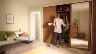 Sliding Wardrobe Closet by Shaker Panel And Mirror Door Oak Sliding Wardrobe Doors