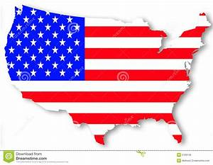 USA national flag stock illustration. Image of silhouette ...