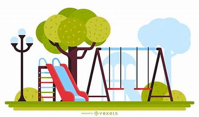 Playground Swing Slide Illustration Vexels Vector Ai
