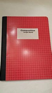 quad composition graph ruled notebook red cover
