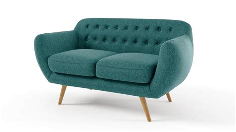 canape 2places canapé 2 places vintage en tissu design scandinave ondigy