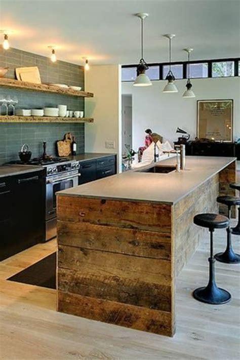 cuisine blanche avec ilot central cuisine avec îlot central 43 idées inspirations