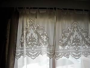 Rideau Brise Bise Lin Dentelle : rideaux lin ~ Teatrodelosmanantiales.com Idées de Décoration
