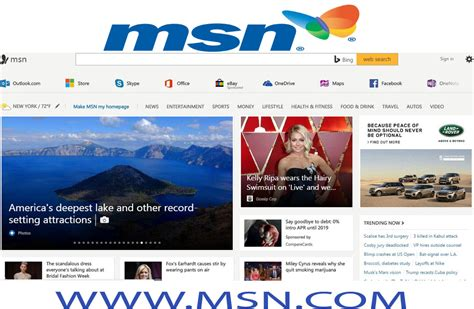 The New And Improved Msn Homepage