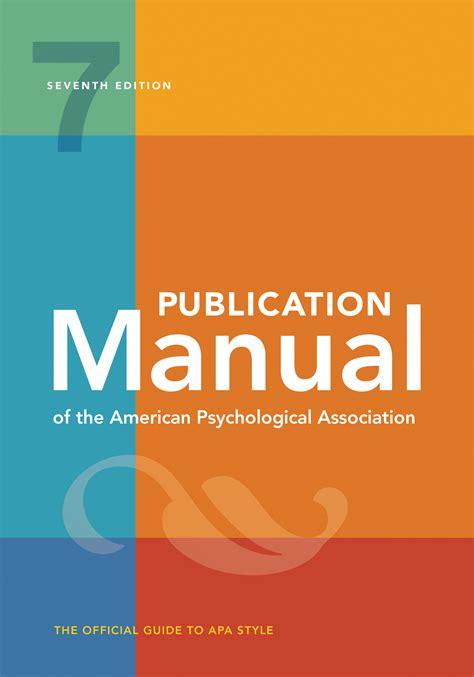 publication manual   american psychological