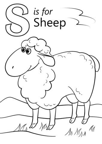 letter s is for sheep coloring page free printable 183   letter s is for sheep coloring page