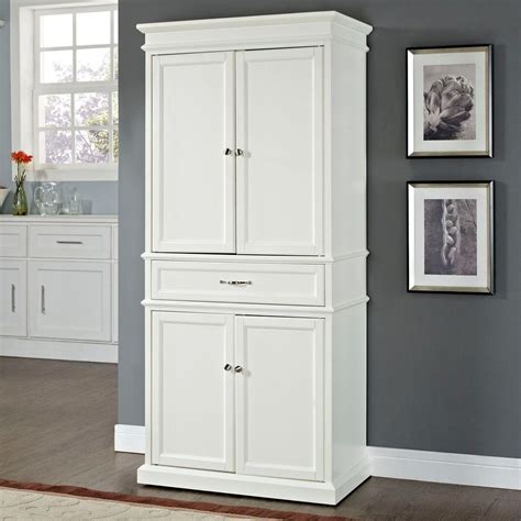 crosley parsons white storage cabinet cf wh  home depot