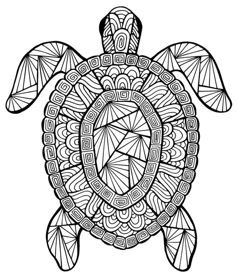 Awesome Turtle Mandala Coloring Pages Collection