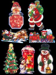 battery operated christmas window decorations