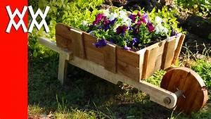 Make a rustic wheelbarrow garden planter Easy DIY weekend project - YouTube